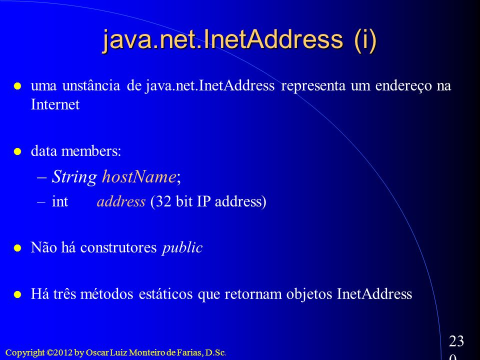 java.net.InetAddress (i)‏
