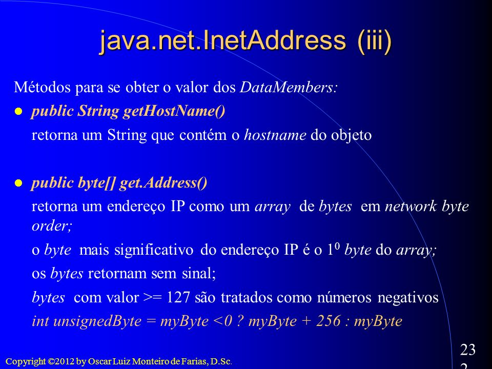 java.net.InetAddress (iii)‏