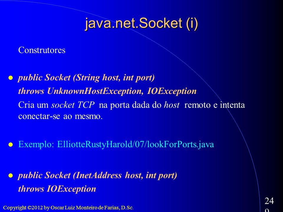 java.net.Socket (i) Construtores