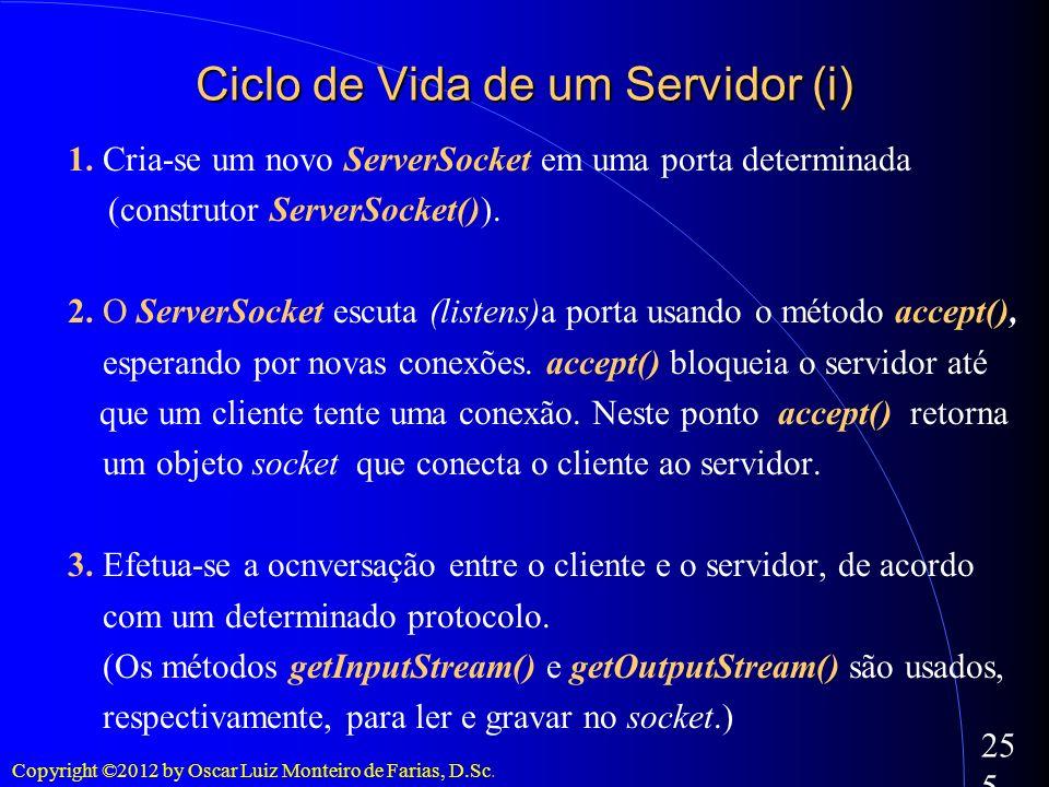 Ciclo de Vida de um Servidor (i)