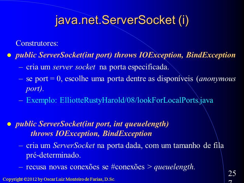 java.net.ServerSocket (i)‏
