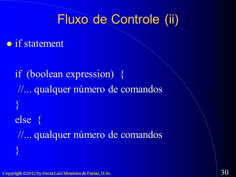 Fluxo de Controle (ii)