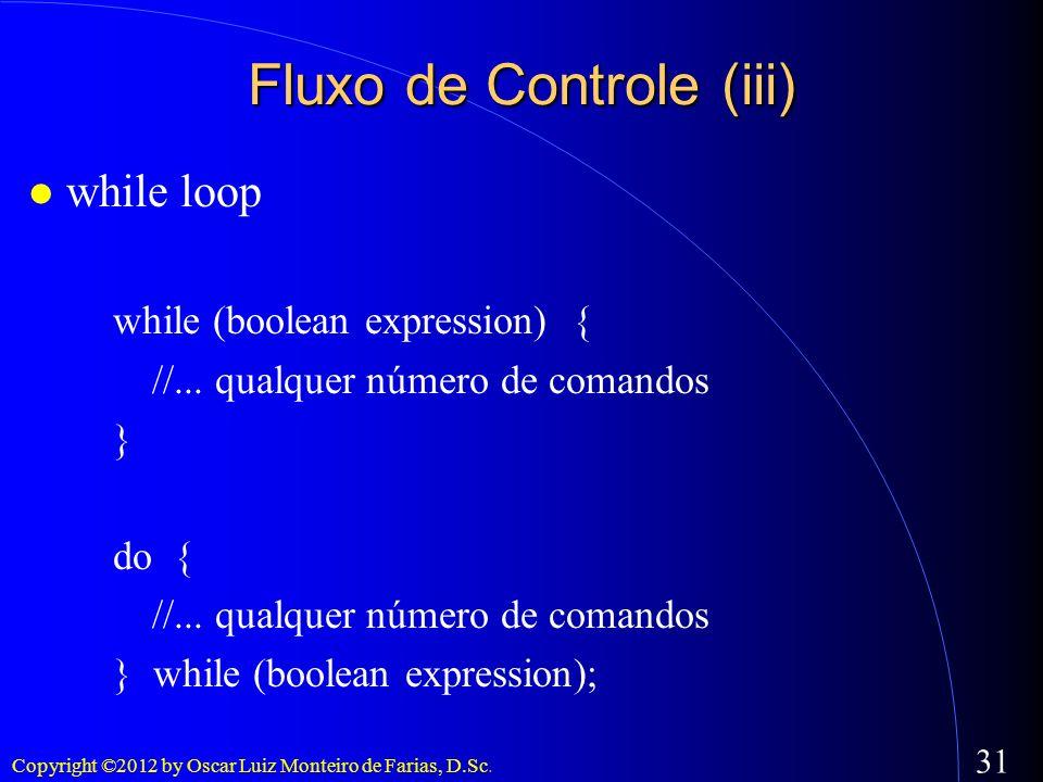 Fluxo de Controle (iii)