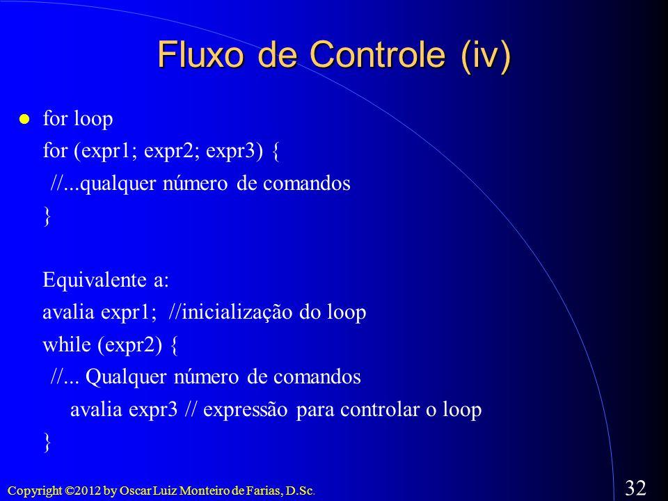 Fluxo de Controle (iv)