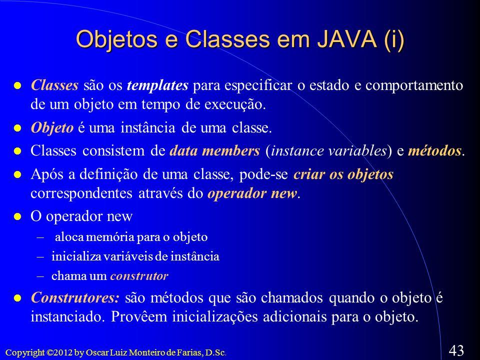 Objetos e Classes em JAVA (i)