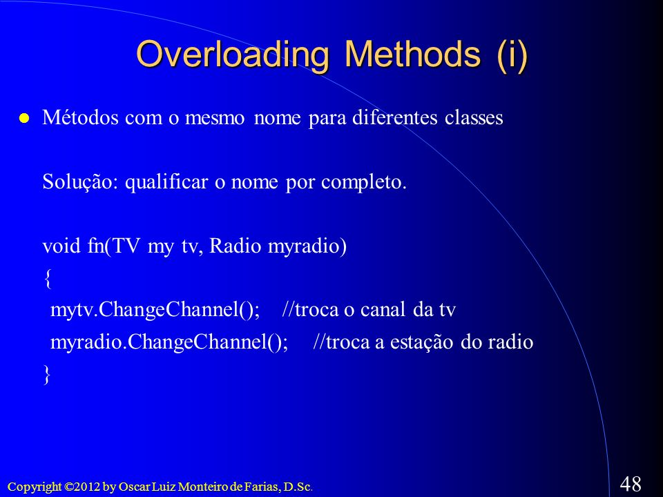 Overloading Methods (i)‏