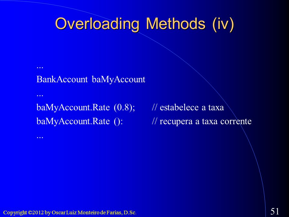 Overloading Methods (iv)‏