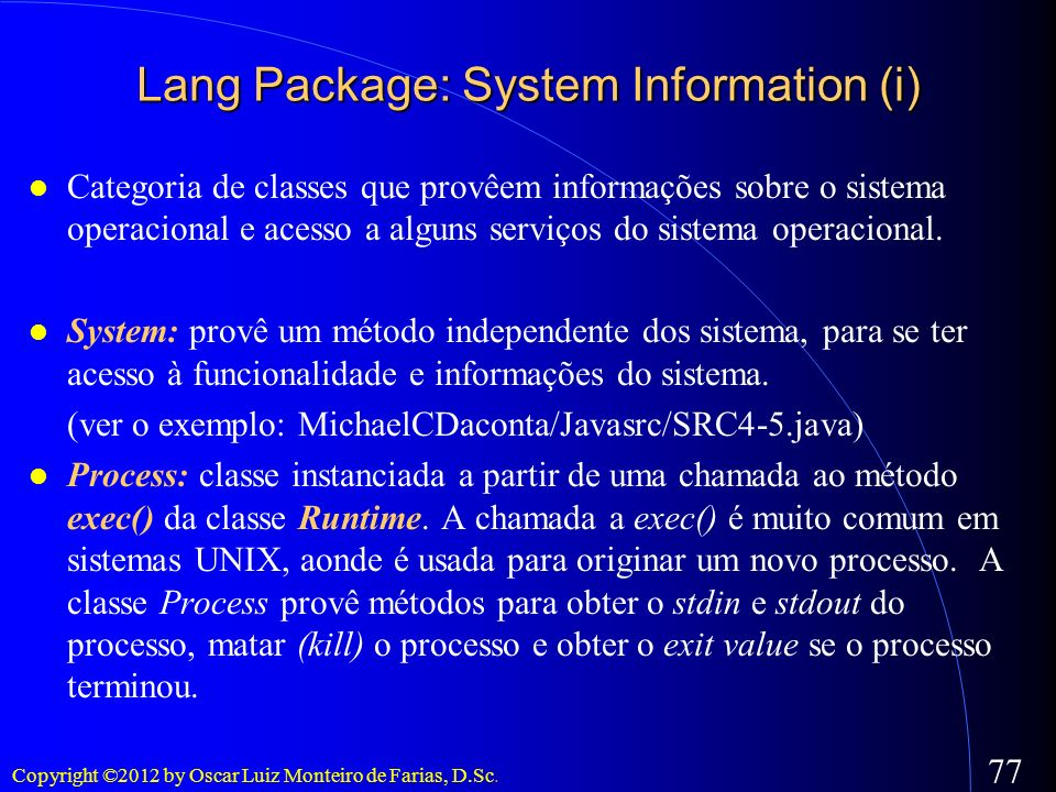 Lang Package: System Information (i)‏