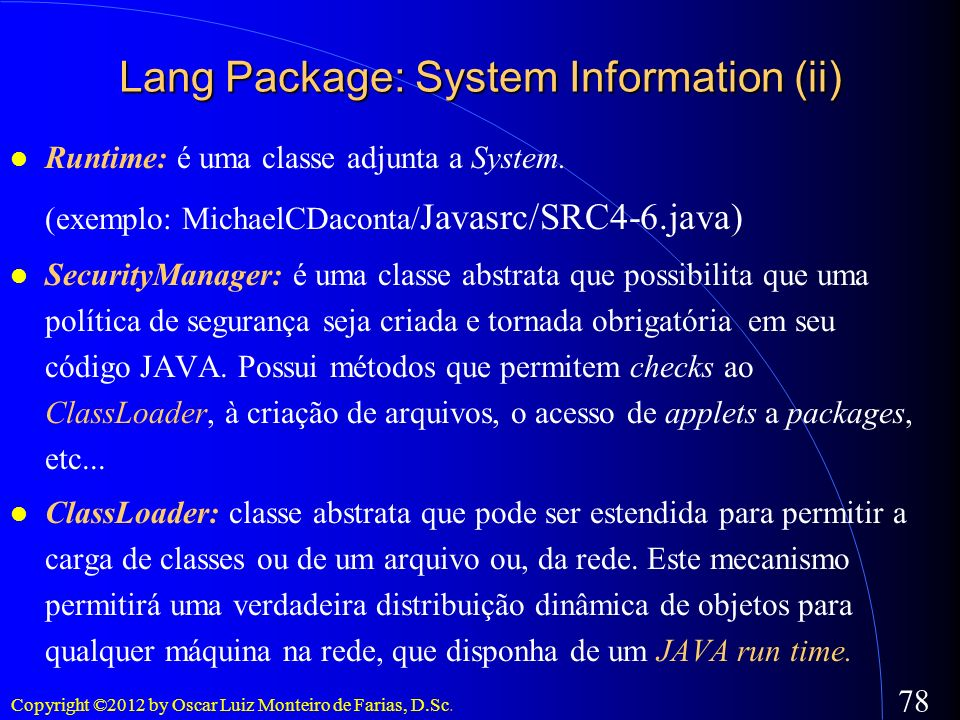 Lang Package: System Information (ii)‏