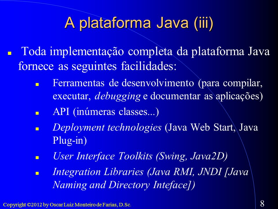 A plataforma Java (iii)
