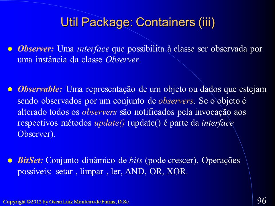 Util Package: Containers (iii)‏