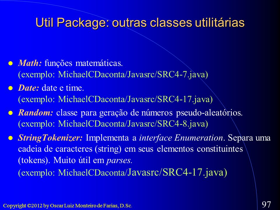 Util Package: outras classes utilitárias