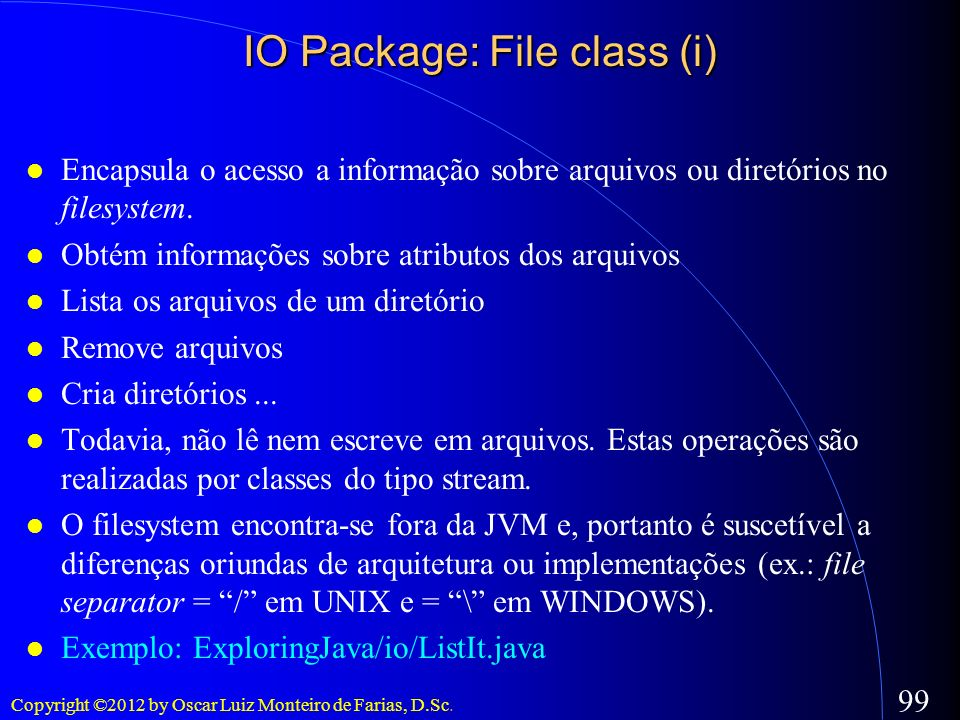 IO Package: File class (i)