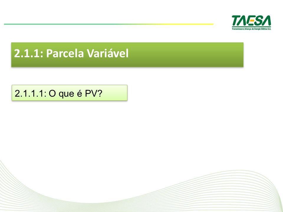 2.1.1: Parcela Variável 2.1.1.1: O que é PV