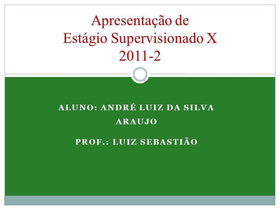Apresentação de Estágio Supervisionado X 2011-2