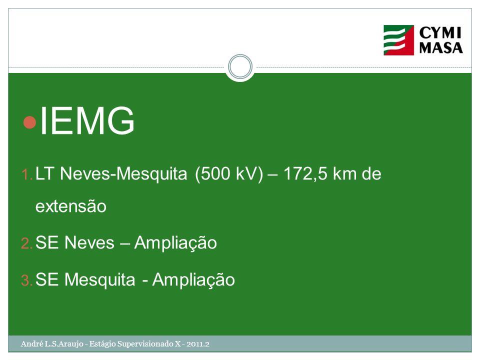 IEMG LT Neves-Mesquita (500 kV) – 172,5 km de extensão