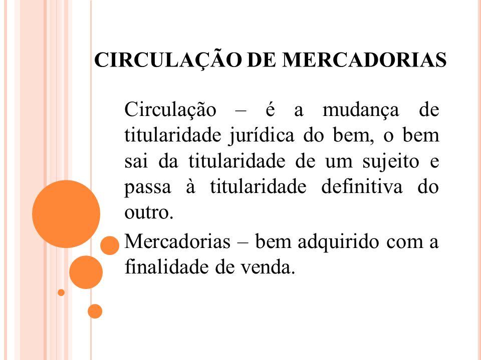 CIRCULAÇÃO DE MERCADORIAS