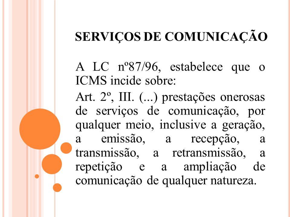 SERVIÇOS DE COMUNICAÇÃO