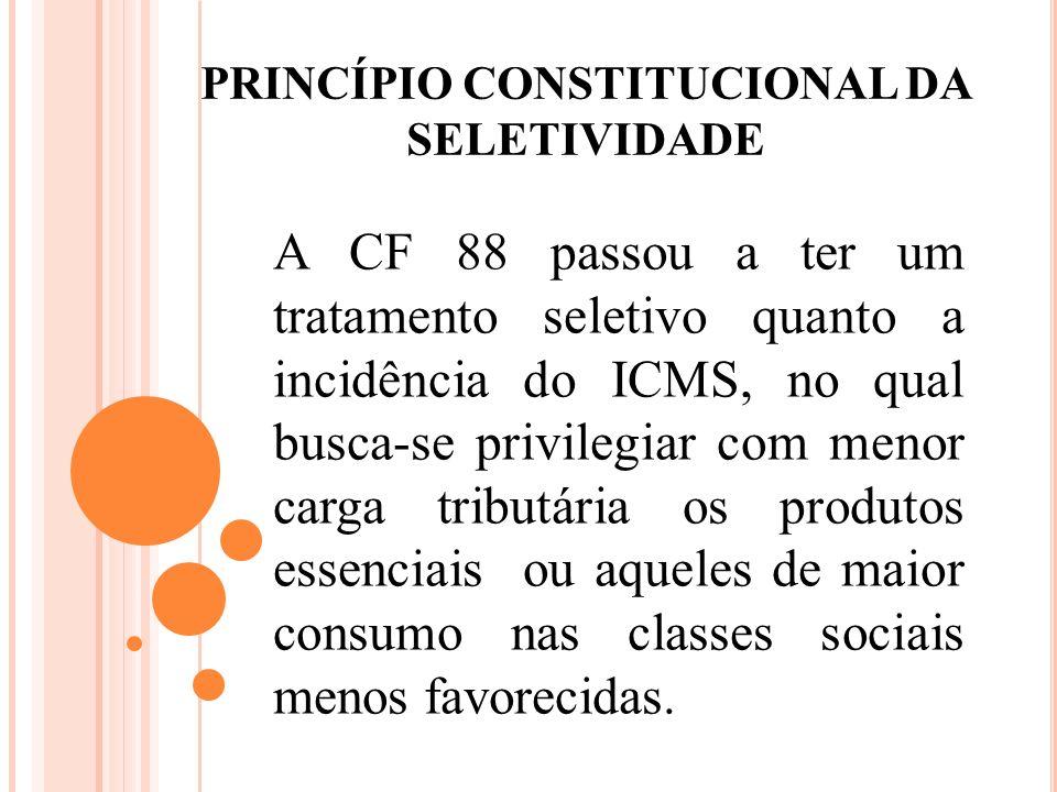 PRINCÍPIO CONSTITUCIONAL DA SELETIVIDADE