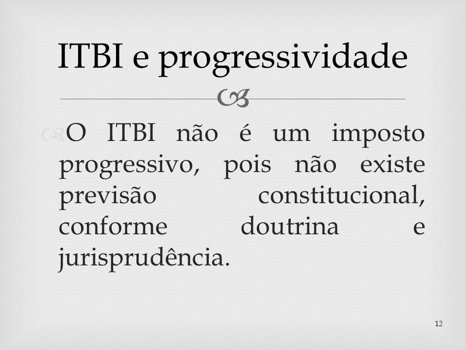 ITBI e progressividade