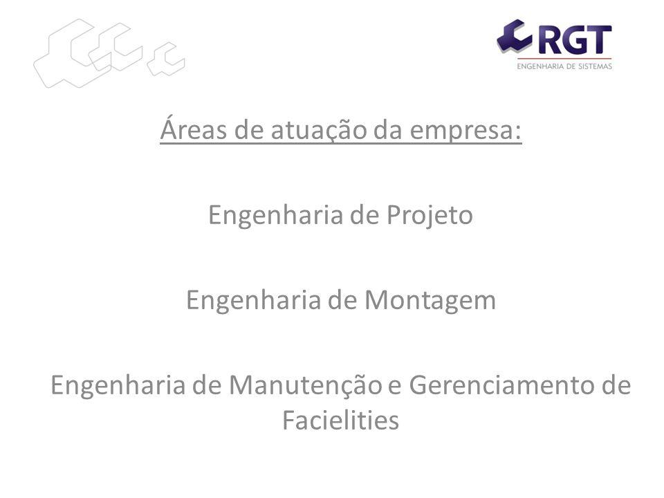 Áreas de atuação da empresa: Engenharia de Projeto