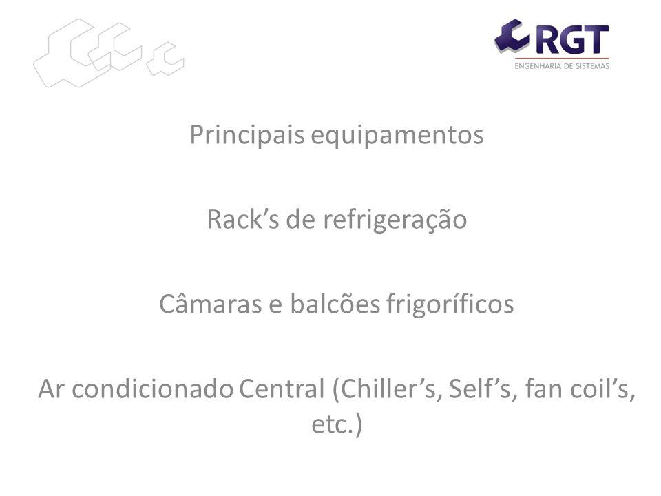 Principais equipamentos Rack's de refrigeração