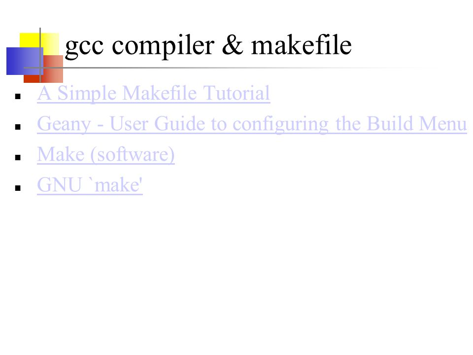 gcc compiler & makefile