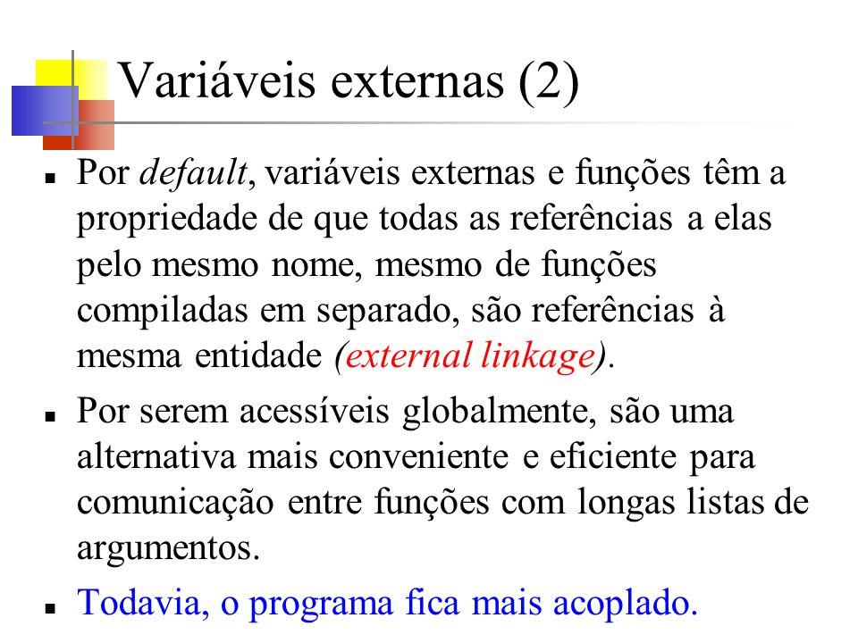 Variáveis externas (2)