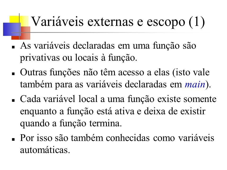 Variáveis externas e escopo (1)