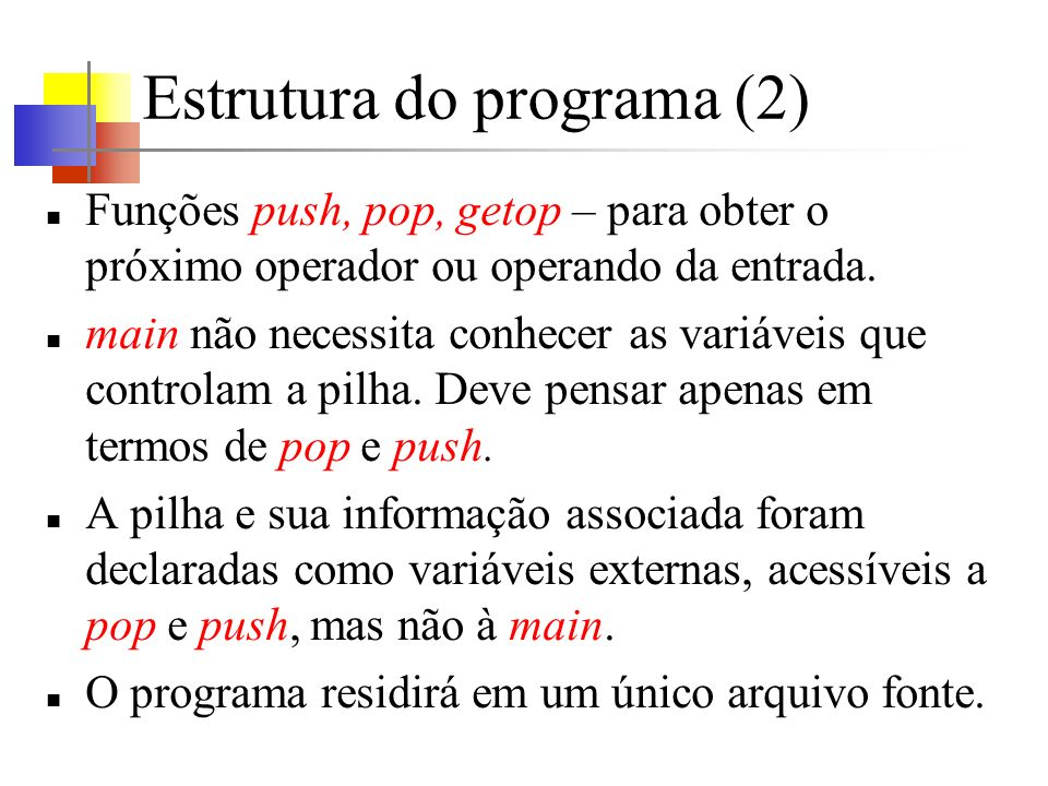 Estrutura do programa (2)