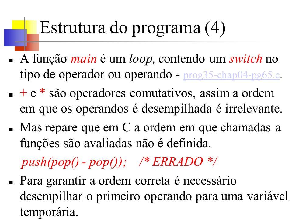 Estrutura do programa (4)