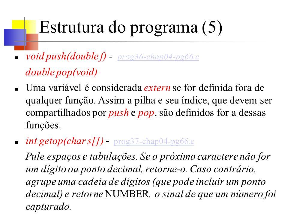 Estrutura do programa (5)