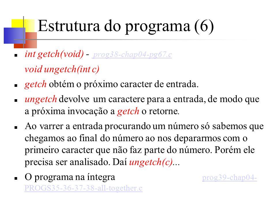 Estrutura do programa (6)