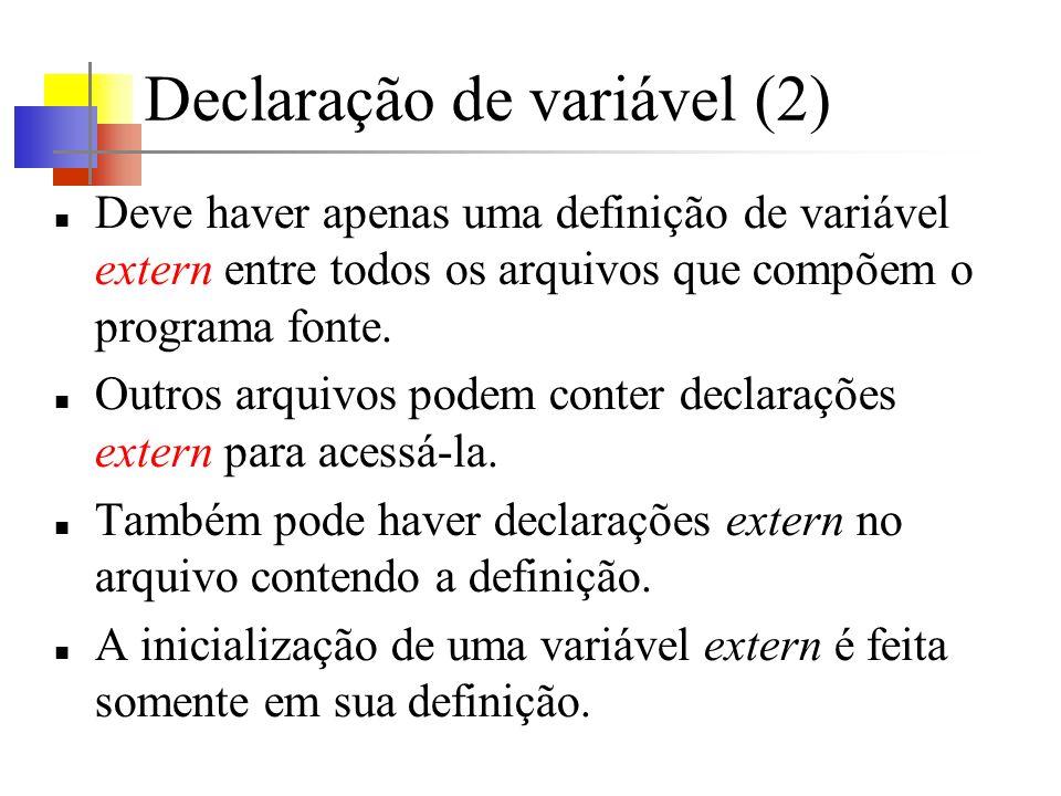 Declaração de variável (2)