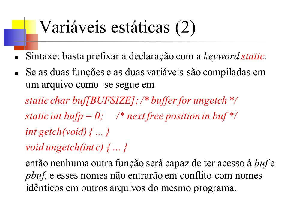 Variáveis estáticas (2)