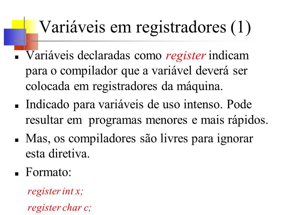 Variáveis em registradores (1)