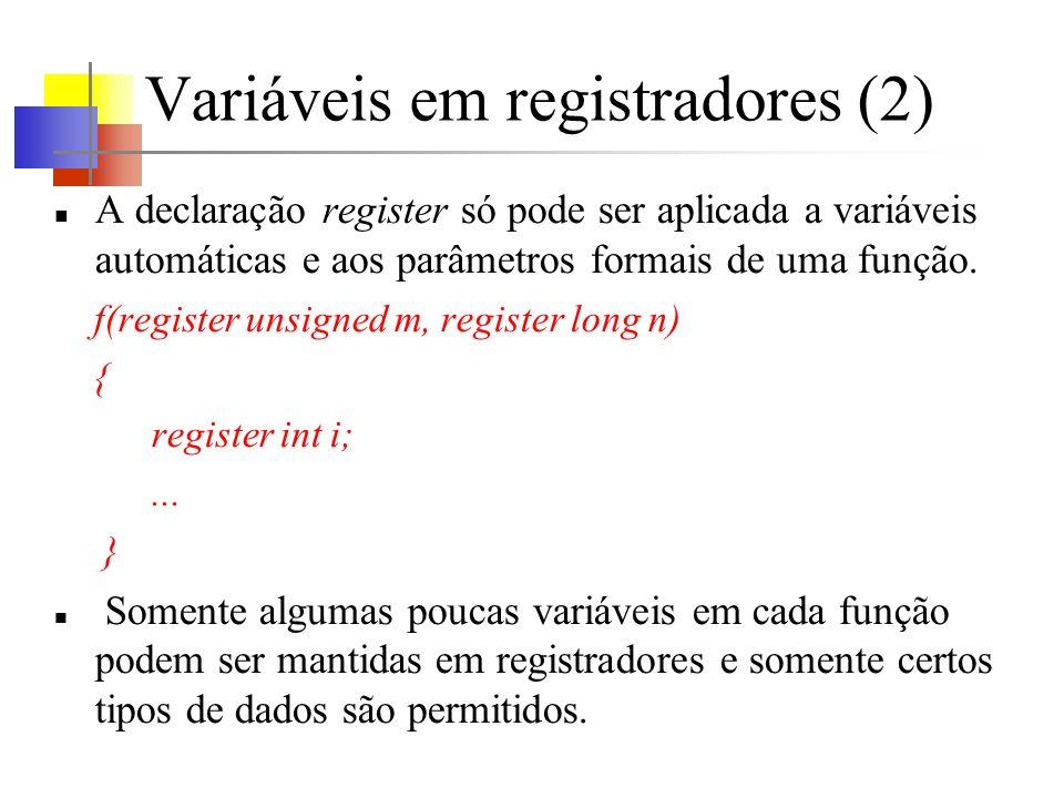 Variáveis em registradores (2)