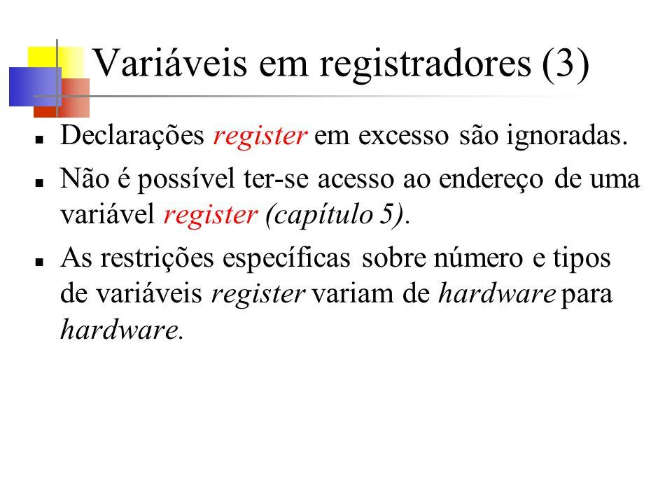 Variáveis em registradores (3)