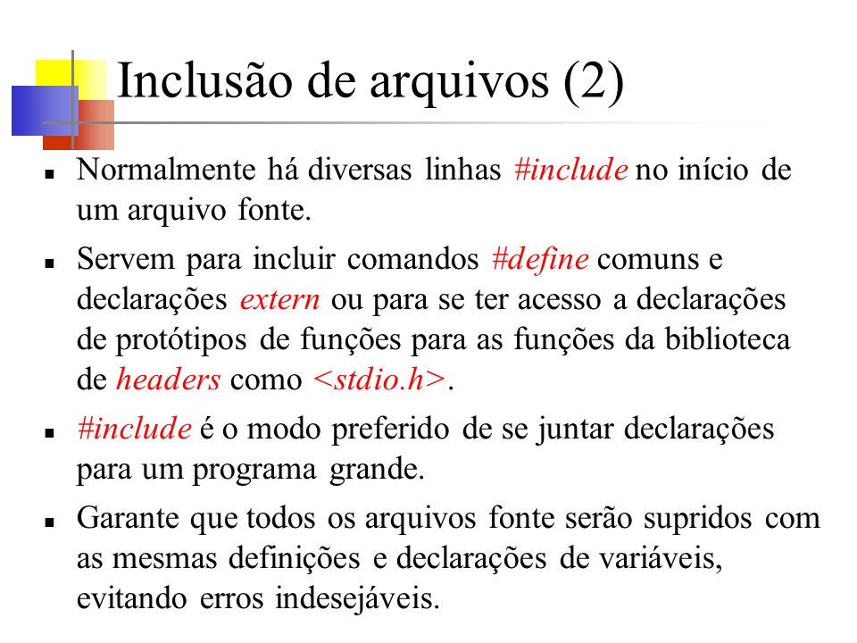 Inclusão de arquivos (2)