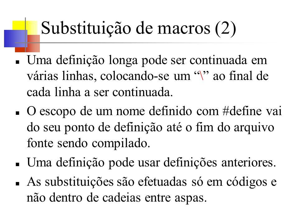 Substituição de macros (2)