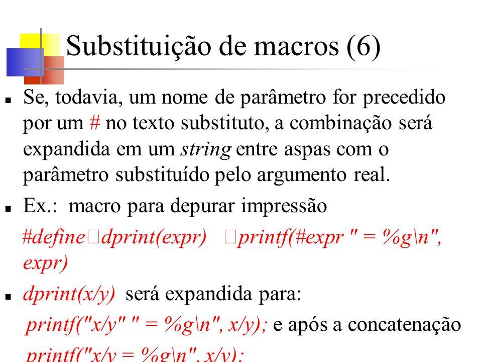 Substituição de macros (6)