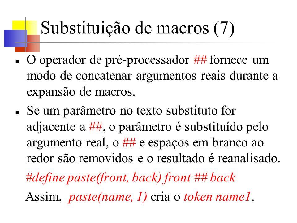 Substituição de macros (7)