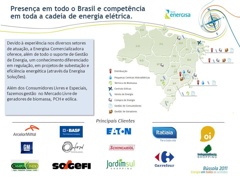 Presença em todo o Brasil e competência em toda a cadeia de energia elétrica.