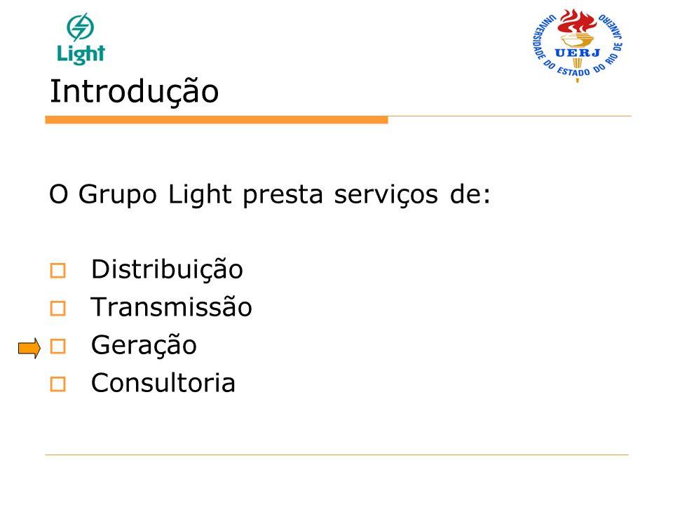 Introdução O Grupo Light presta serviços de: Distribuição Transmissão