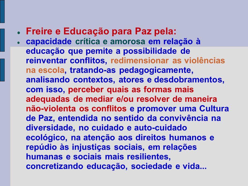 Freire e Educação para Paz pela: