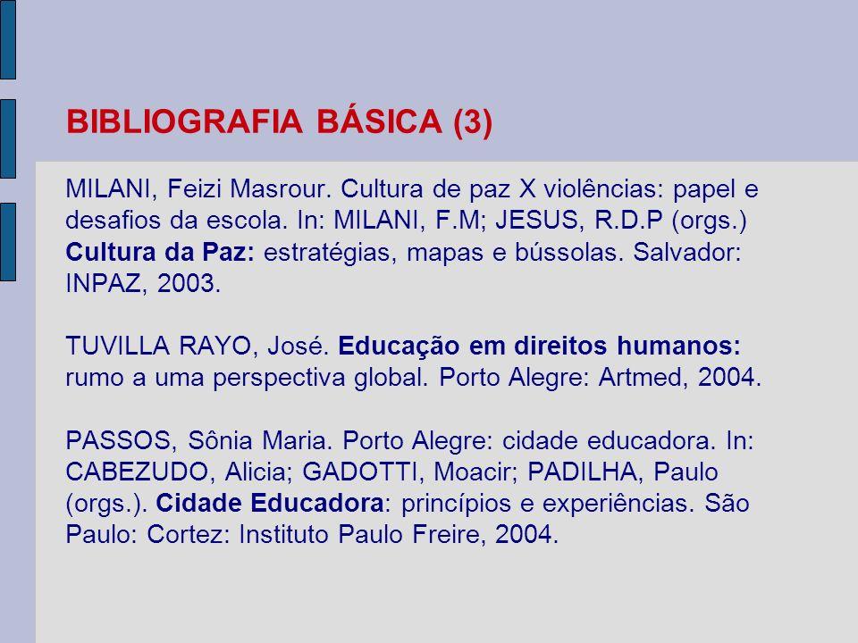 BIBLIOGRAFIA BÁSICA (3) MILANI, Feizi Masrour