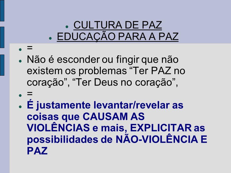 É Melhor Ter Razão Ou Paz: PAULO FREIRE E EDUCAÇÃO PARA A PAZ: O MESMO SENTIDO