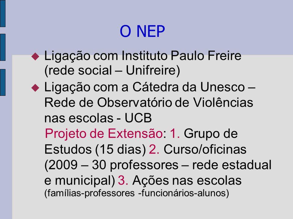 O NEP Ligação com Instituto Paulo Freire (rede social – Unifreire)