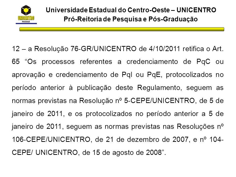 Universidade Estadual do Centro-Oeste – UNICENTRO