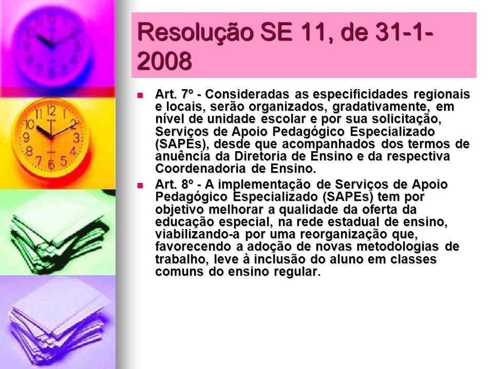 Resolução SE 11, de 31-1-2008